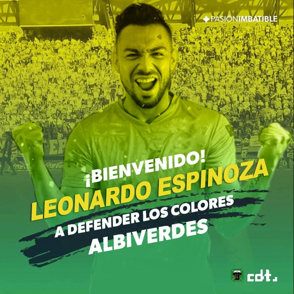 LEONARDO ESPINOZA, PRIMER REFUERZO ALBIVERDE